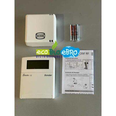 Ambiente Cronotermostato Semanal Radio Calefacción : Refrigeración Siesta CRX-RF ecobioebro