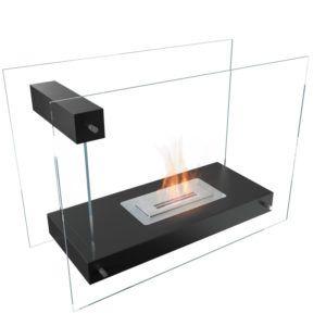 Biochimenea de suelo Linate fuego