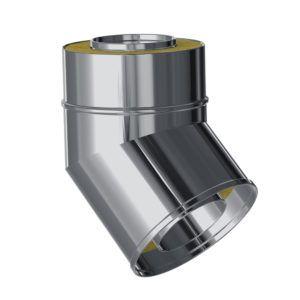 CODO 45º AISLADO EXTERIORES MACHO-HEMBRA 80/130 INOX