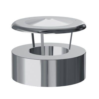 DEFLECTOR EVACUACIÓN VERTICAL AISLADO EXTERIORES MACHO-HEMBRA (INOX)