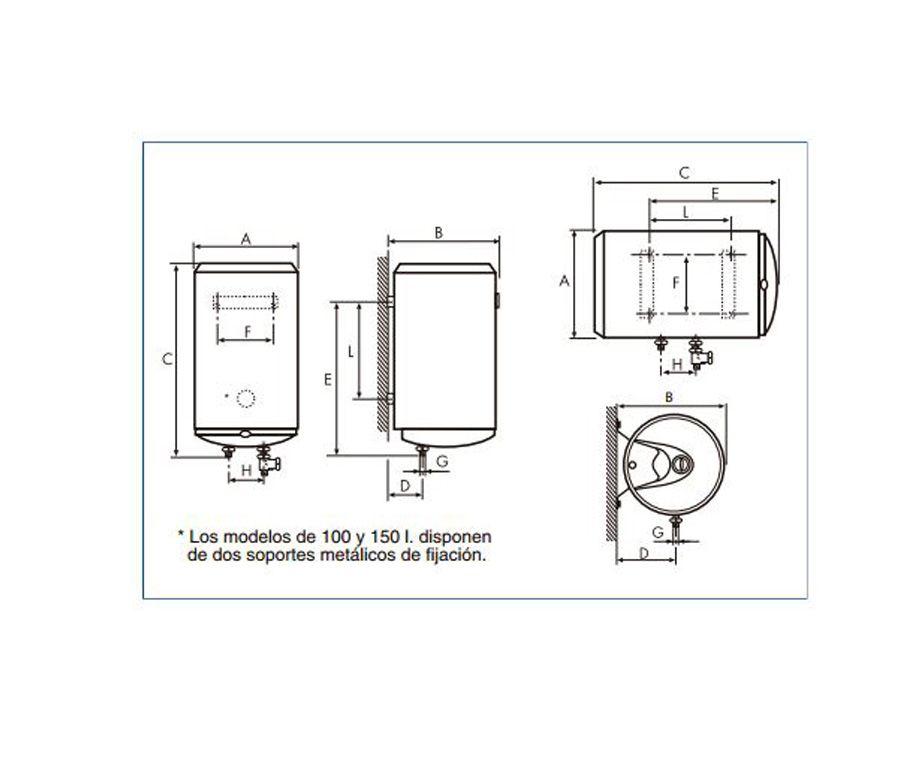 Termo el ctrico cointra tnc 150 ecobioebro - Termo electrico 150 litros ...