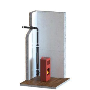 Salida humos estufa pellets horizontal transportes de for Estufas de pellets sin salida de humos