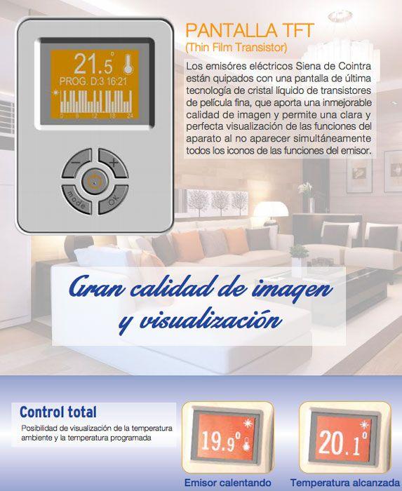 Emisor termico electrico siena 750 ecobioebro - Emisor termico cointra ...