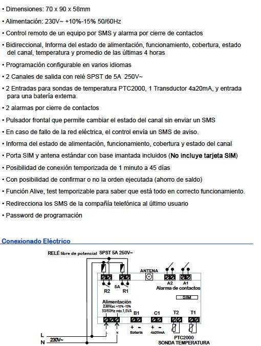 Características Telkan 2 Ecobioebro