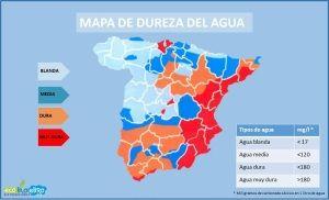Mapa de dureza de aguas