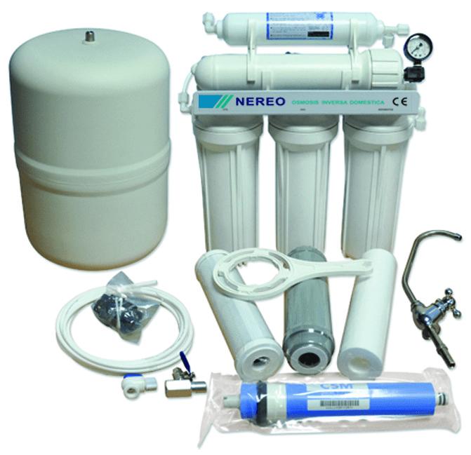 Osmosis inversa domestica nereo for Equipo de osmosis