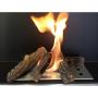Vista quemar troncos