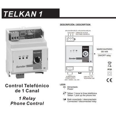 TELKAN 1 Control Telefónico de 1 Canal (Línea fija).