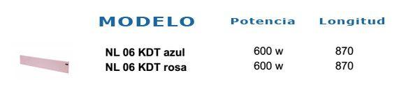 Radiador eléctrico Adax Neo NL Azul/Rosa 3