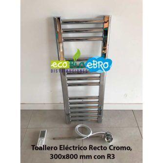 Ambiente-Toallero-Eléctrico-Recto-Cromo,-300x800-mm-con-R3-ecobioebro