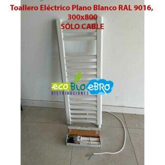Toallero-Eléctrico-Plano-Blanco-RAL-9016,-300x800-solo-cable-ecobioebro