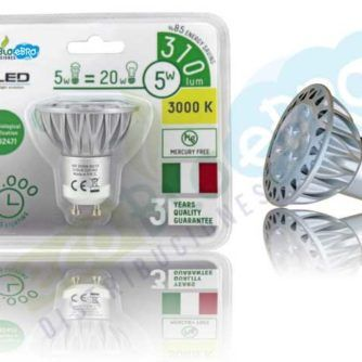 LÁMPARA DE LED, 6W - 5 FOCOS - ECOBIOEBRO