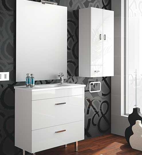 Mueble de ba o almagro 800 blanco ecobioebro for Mueble 80 cm ancho