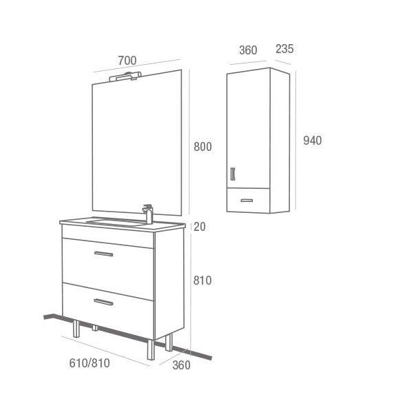 Mueble de ba o almagro 600 wenge ecobioebro - Muebles en almagro ...