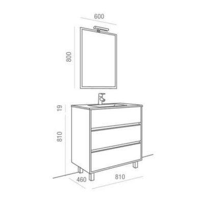 Mueble de Baño Arenys 800