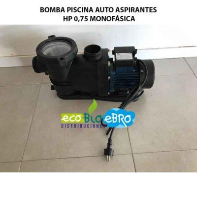 BOMBA PISCINA AUTO ASPIRANTES HP 0,75 MONOFÁSICA ecobioebro