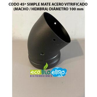 CODO-45º-SIMPLE-MATE-ACERO-VITRIFICADO-(MACHO---HEMBRA)-diametro-100-mm-ecobioebro