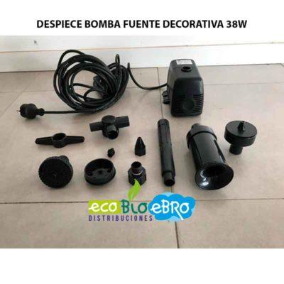 DESPIECE BOMBA FUENTE DECORATIVA 38W ECOBIOEBRO