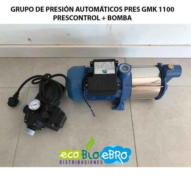 GRUPO DE PRESIÓN AUTOMÁTICOS PRES GMK 1100 PRESCONTROL + BOMBA ecobioebro