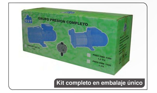 GRUPO DE PRESION AUTOMÁTICOS PRESJET GM150