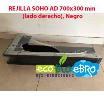 REJILLA SOHO AD 700x300 mm (lado derecho), Negro ecobioebro