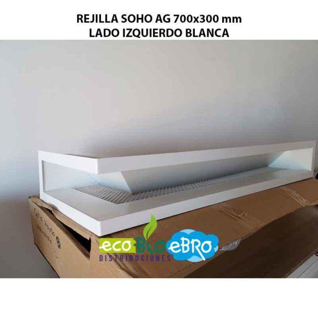 REJILLA SOHO AG 700x300 mm LADO IZQUIERDO BLANCA ECOBIOEBRO