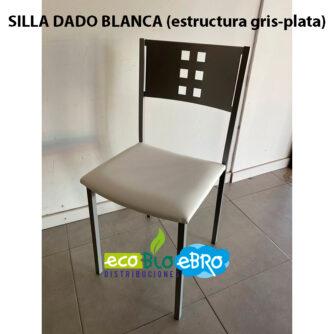 SILLA-DADO-BLANCA-estructura-gris-plata-ecobioebro