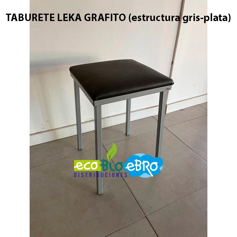 TABURETELEKA-GRAFITO-(estructura-gris-plata)-ecobioebro
