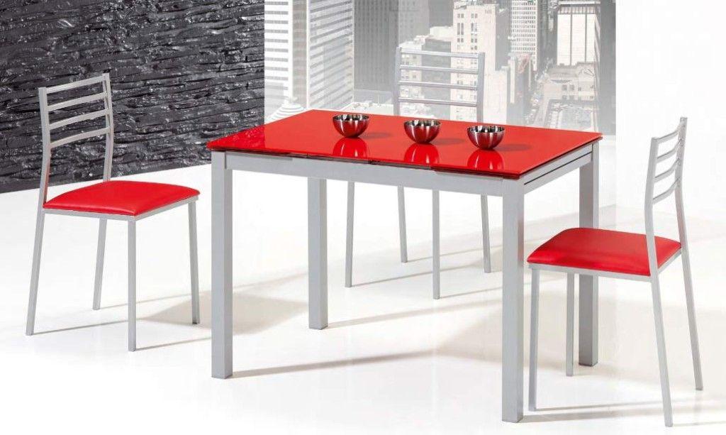 Mesas de cocina mesa abril extension lateral for Mesas cocina zaragoza