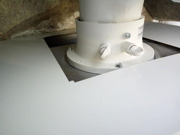 Conexion superior armario cubrecaldera ecobioebro