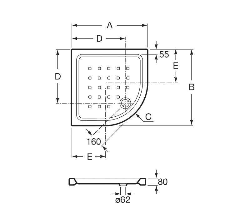 Plato ducha easy angular ecobioebro for Cabinas de ducha medidas