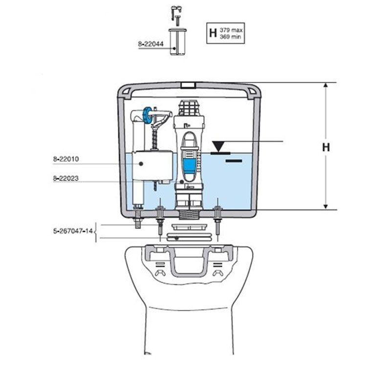 Mecanismo doble descarga universal roca ecobioebro for Mecanismo de cisterna roca modelo victoria