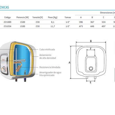 Termo Eléctrico THERMOR COMPACT 15L