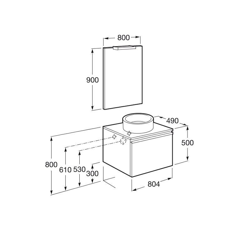 Pack 800mm heima fresno ecobioebro for Altura lavabo minusvalidos