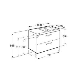 esquema-mueble-prisma-2-cajones-900-derecha-fresno-ecobioebro