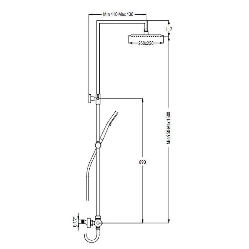 Columna de ducha termost tica moncayo ecobioebro for Columna termostatica