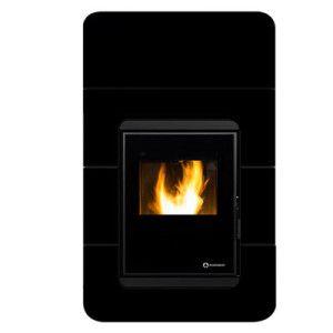 Estufa de aire cordoba glass insert negra