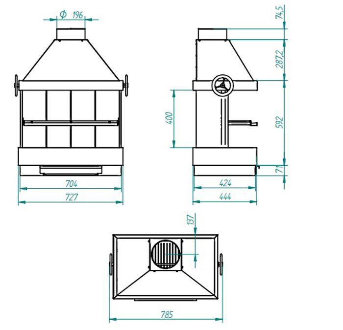 Barbacoa modular en acero patio ecobioebro - Medidas de barbacoas de obra ...