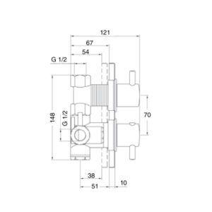 Mezclador termostatico ducha Izas