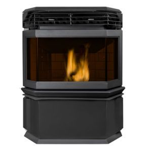 estufa de aire eco i negra