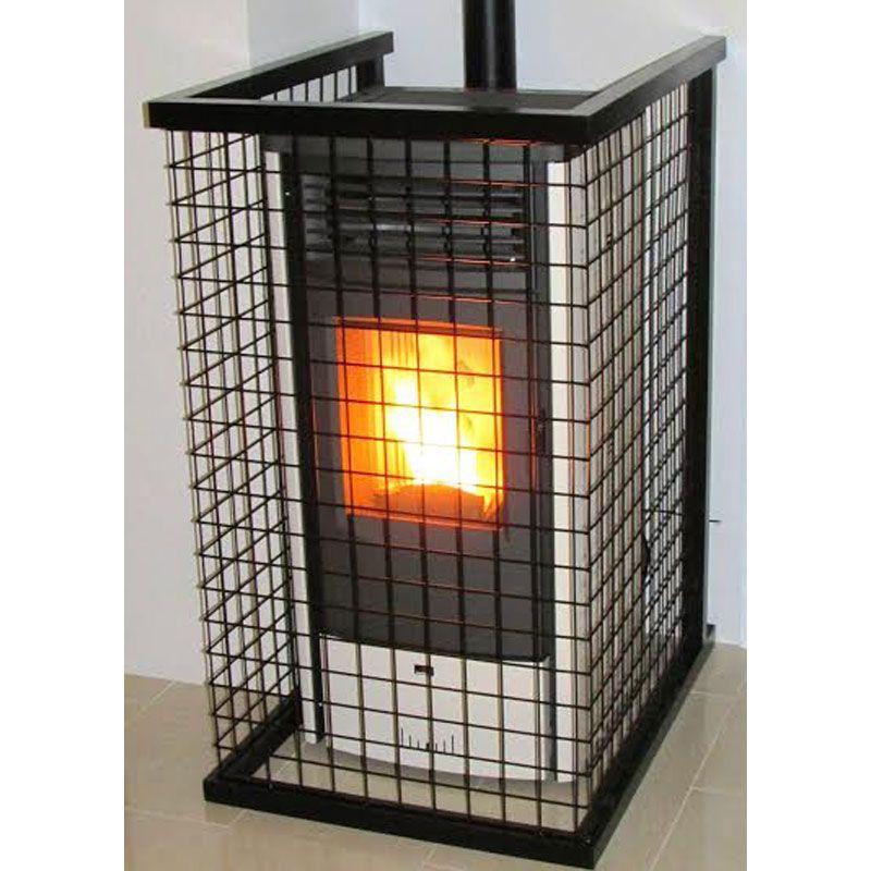 Barrera protecci n estufas pellets ecobioebro for Estufas de pellets con salida de humos lateral