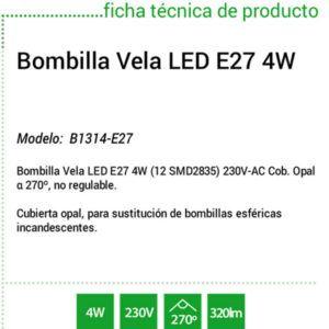 Bombilla-Led-E27-vela-ecobioebro