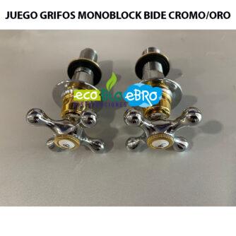 JUEGO-GRIFOS-MONOBLOCK-BIDE-CROMO:ORO ecobioebro