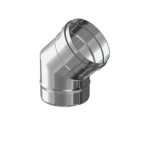 CODO 45º SIMPLE PARED INOX 316 EXTERIORES