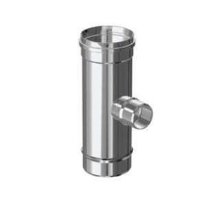COLECTOR VERTICAL ENTRONQUE Ø 80 SIMPLE PARED INOX 316 EXTERIORES