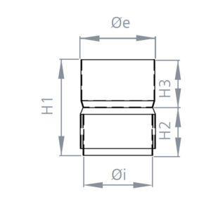 UNIÓN FLEXIBLE A FLEXIBLE INOX 316 EXTERIORES (Anti-condensación)