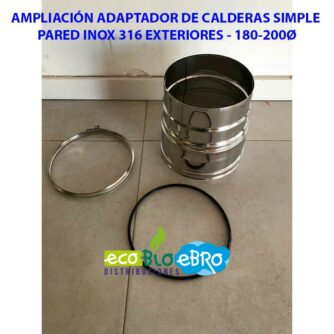 VISTA-AMPLIACIÓN-ADAPTADOR-DE-CALDERAS-SIMPLE-PARED-INOX-316-EXTERIORES---180-200Ø-ECOBIOEBRO