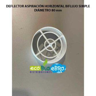 DEFLECTOR-ASPIRACIÓN-HORIZONTAL-BIFLUJO-SIMPLE-DIAMETRO-80-MM ecobioebro