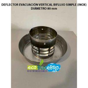 DEFLECTOR-EVACUACIÓN-VERTICAL-BIFLUJO-SIMPLE-(INOX)-DIAMETRO-80-mm ecobioebro