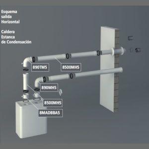 Esquema-montaje-horizontal-caldera-de-condensacion-ecobioebro
